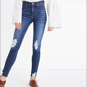 """Madewell 9"""" High-Rise Destructed Skinny Jeans"""